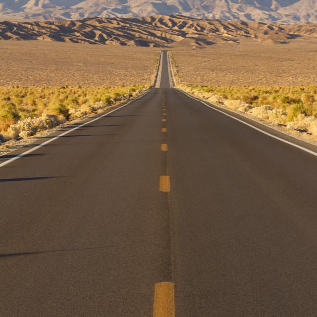 """Highway in the desert"" stock image"