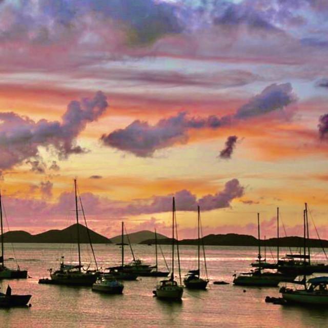 """Cruz Bay, St John, USVI"" stock image"