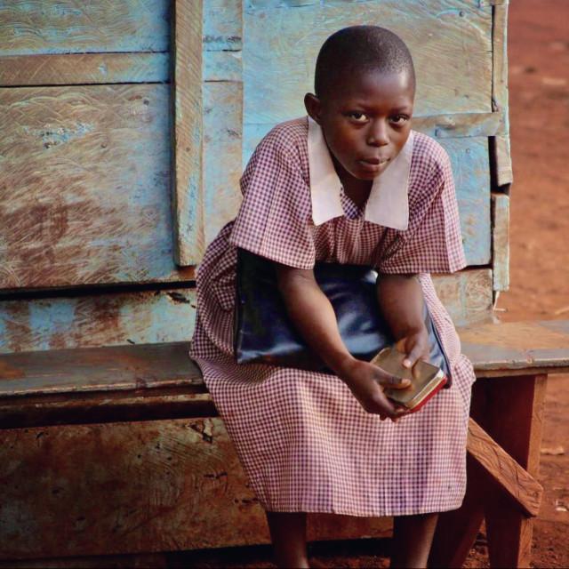 """""""Uganda schoolgirl"""" stock image"""