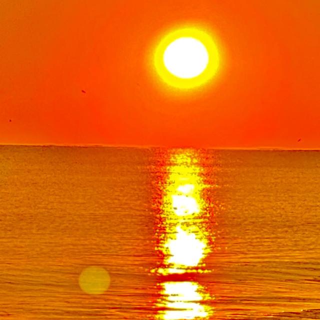 """Sunset Oak Island NC"" stock image"