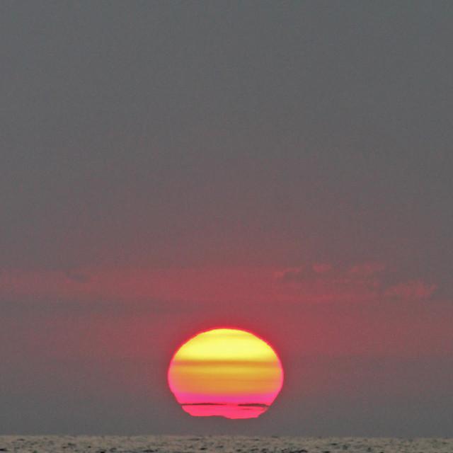 """Pacific Sunrise"" stock image"