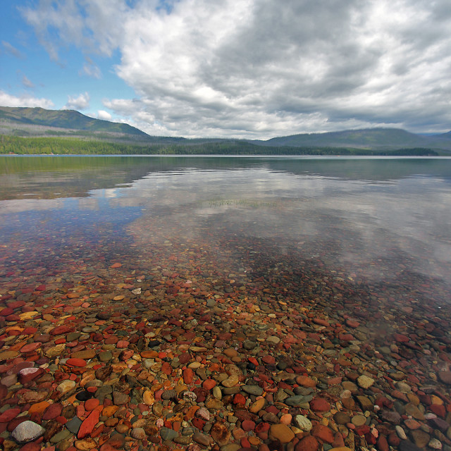 """Lake McDonald"" stock image"