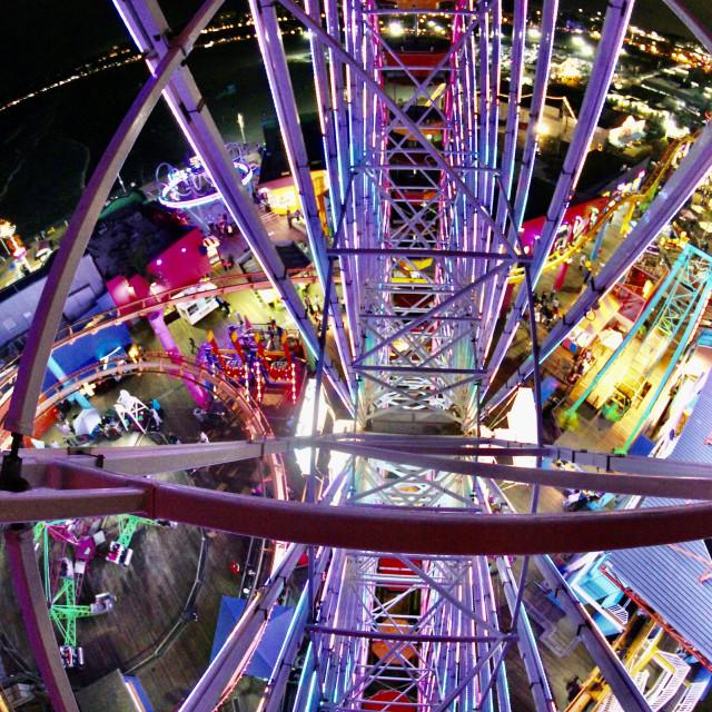 """Ferris wheel- Santa Monica"" stock image"