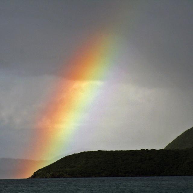 """Rainbow, Tortola, BVI"" stock image"