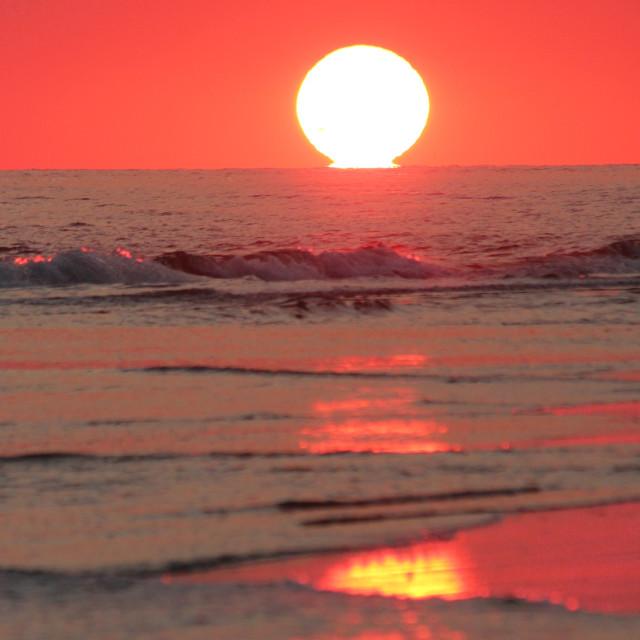 """Baldhead island sunset 2"" stock image"
