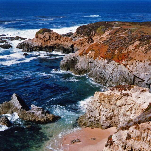 """Sunny day, Big Sur Coast"" stock image"