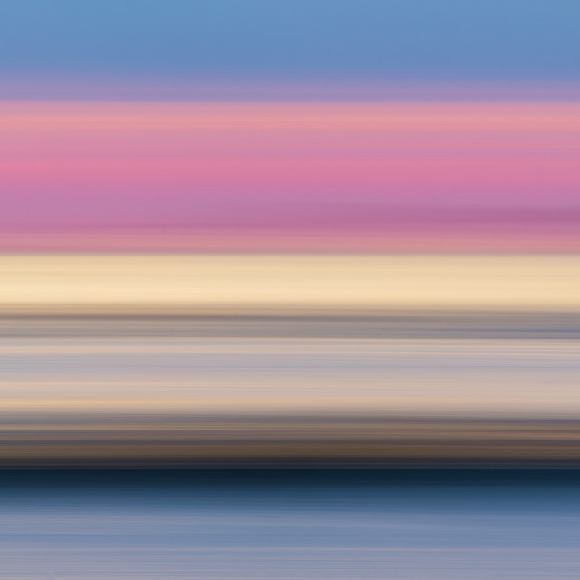 """""""Blurry colorful lines at coast"""" stock image"""