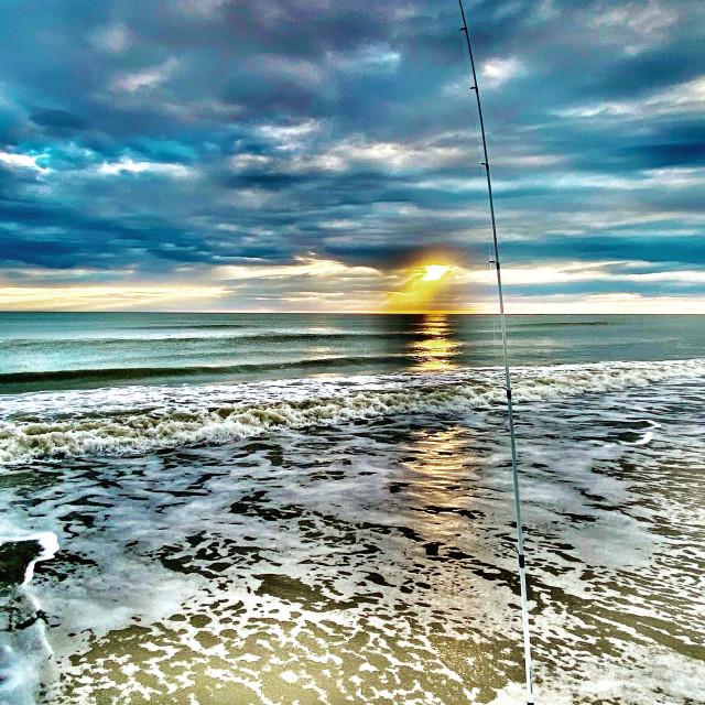 """Surf fishing"" stock image"