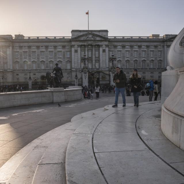 """""""Buckingham Palace at sunset, London, England"""" stock image"""