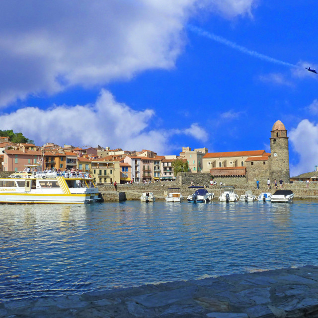 """Collioure Harbour France"" stock image"