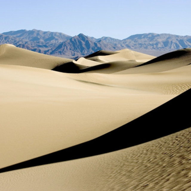 """Shadow, sand dune"" stock image"