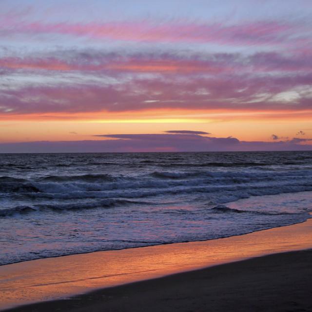 """""""Sunset Newport Beach"""" stock image"""