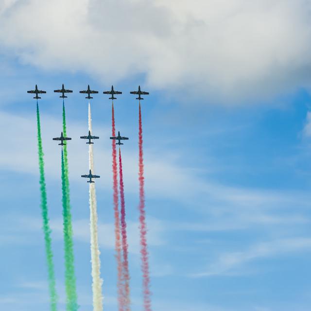 """""""Frecce Tricolori"""" stock image"""