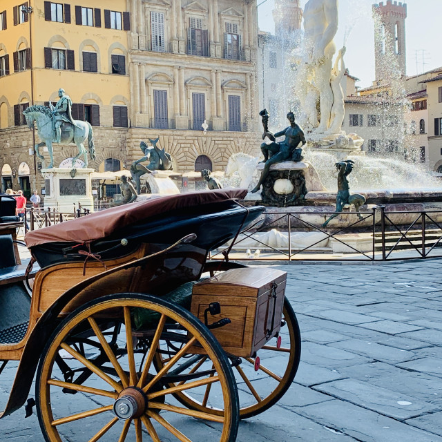 """""""Fountain of Neptune, Florence, Italy"""" stock image"""