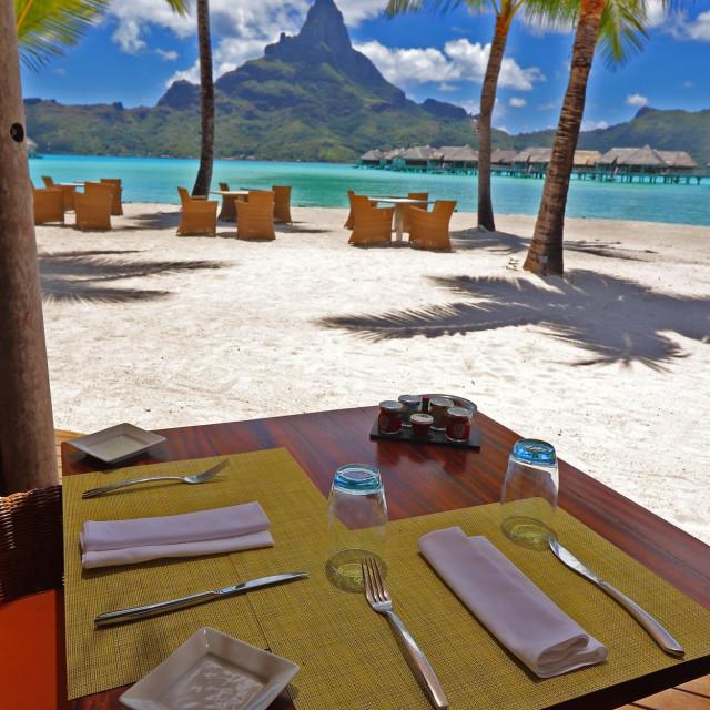 """Lunch at Bora-Bora"" stock image"