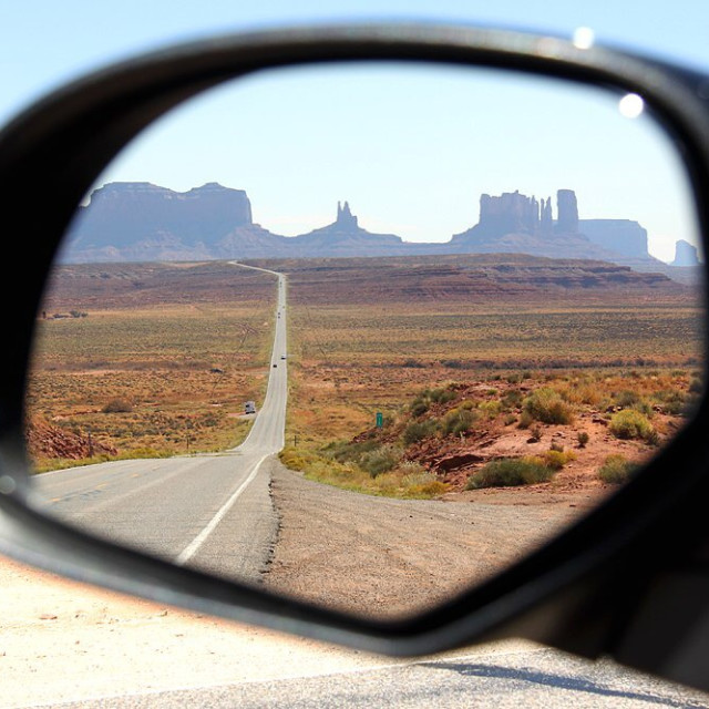 """""""Monument valley rearview"""" stock image"""