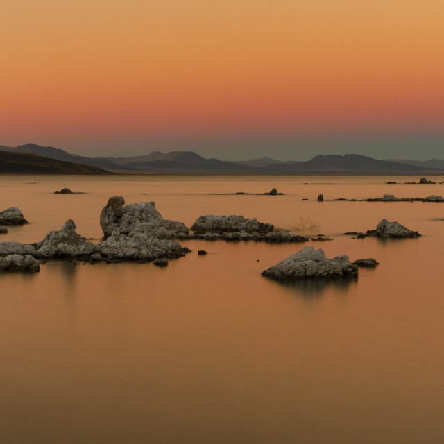 """Sunset over Mono Lake"" stock image"