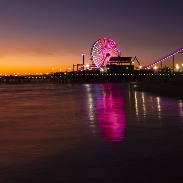 """Sunset in Santa Monica"" stock image"
