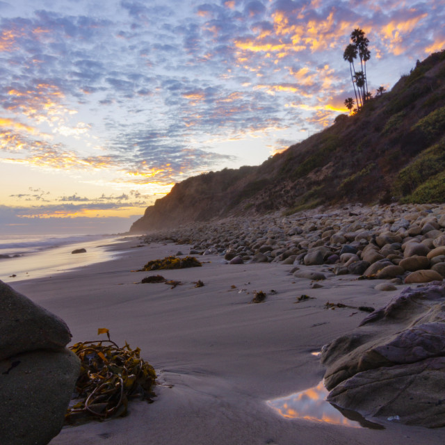 """Sunset in Malibu"" stock image"