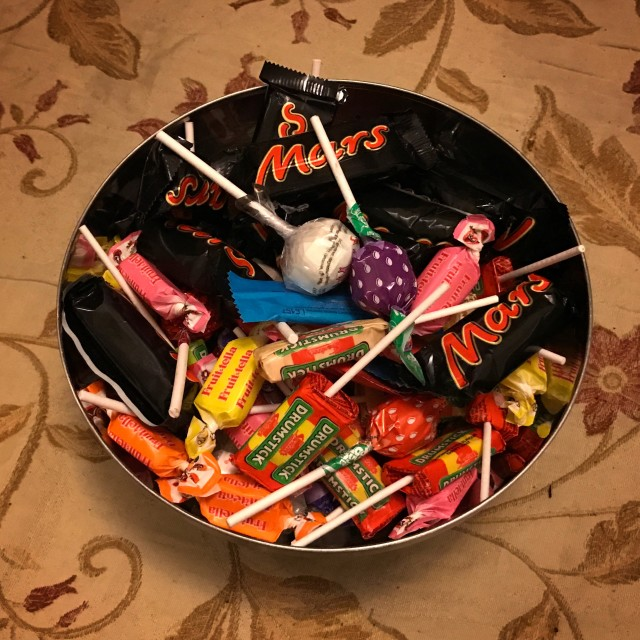 """""""Bowl of sweets (candy)"""" stock image"""