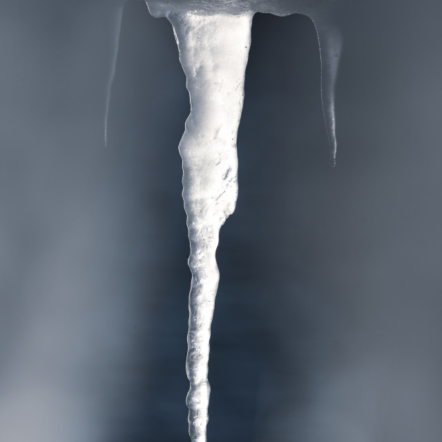"""""""Detail of Icicles"""" stock image"""