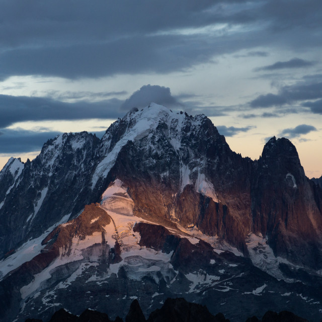 """The mighty Aiguille Verte (4122m)"" stock image"
