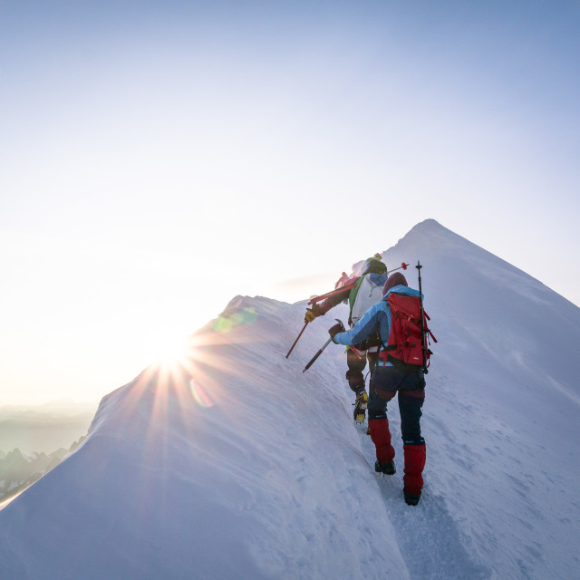 """Mont Blanc Summit"" stock image"