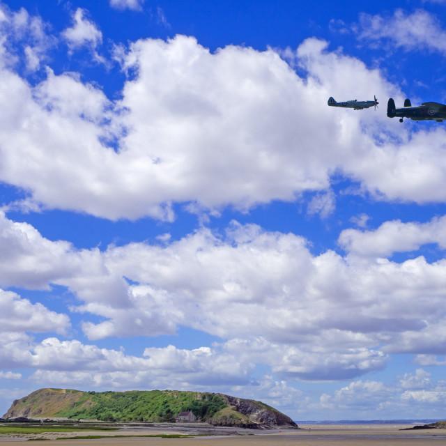 """Brean Down Somerset Memorial Flight"" stock image"