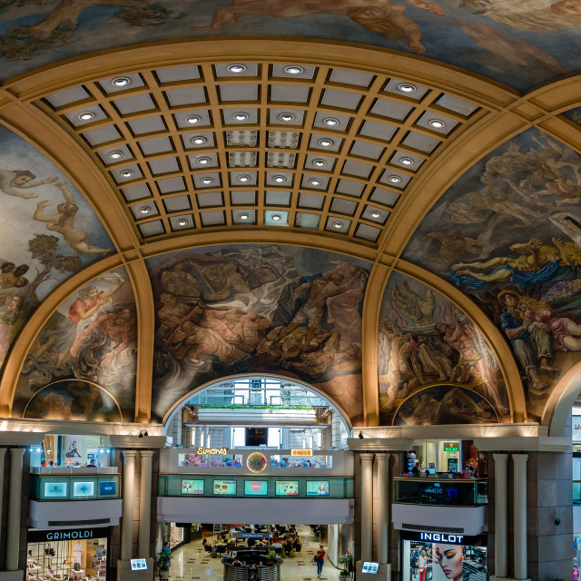 """The painted ceiling of Galerias Pacifico, Buenos Aires, Argentina"" stock image"