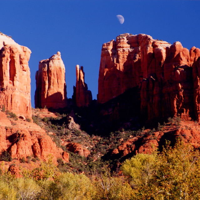 """""""Cathedral rock"""" stock image"""