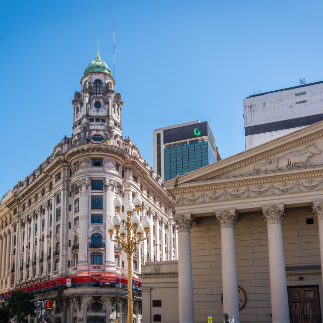 """Buildings in Buenos Aires, Argentina"" stock image"