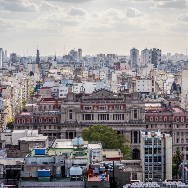 """Panoramic view of Buenos Aires, Argentina"" stock image"