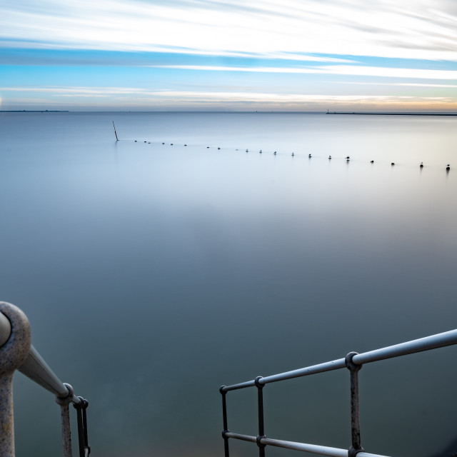 """""""Watching High Tide at Harwich"""" stock image"""