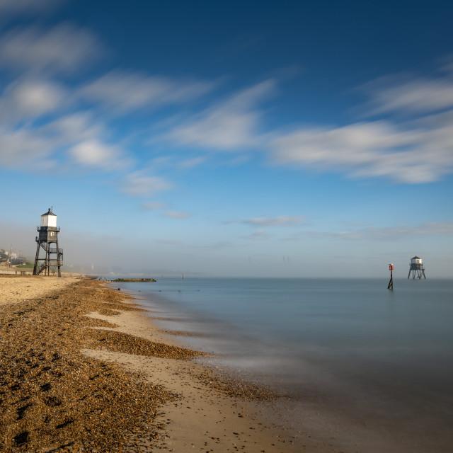 """Fog Lifting Dovercourt Beach"" stock image"