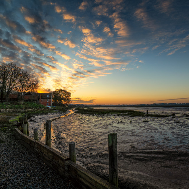 """Sunset t Landermere Quay 1"" stock image"