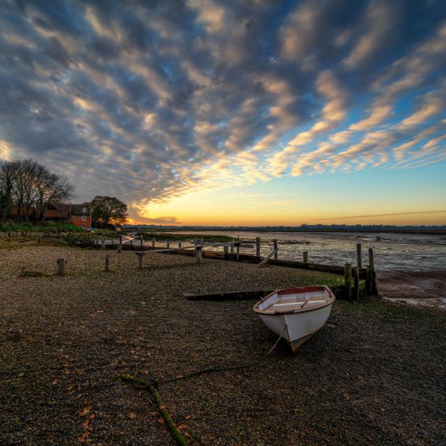 """Landermere Quay Sunset 2"" stock image"