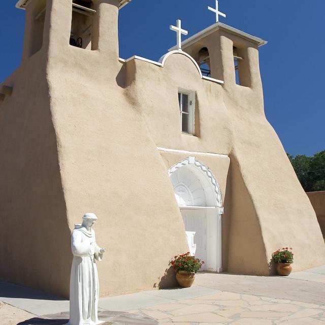 """Rancho de Taos statue"" stock image"