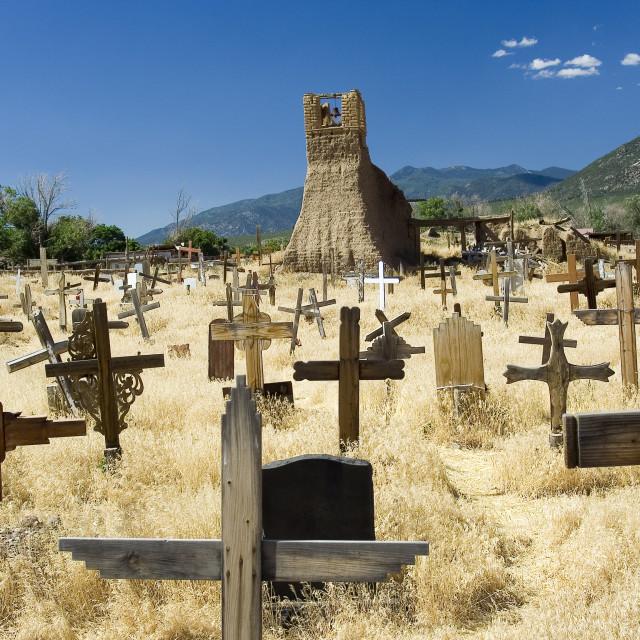 """""""Taos cemetery"""" stock image"""
