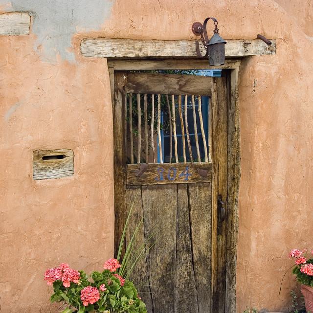 """""""Door, Santa Fe"""" stock image"""