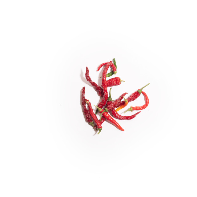 """""""Chilli peppers on white"""" stock image"""
