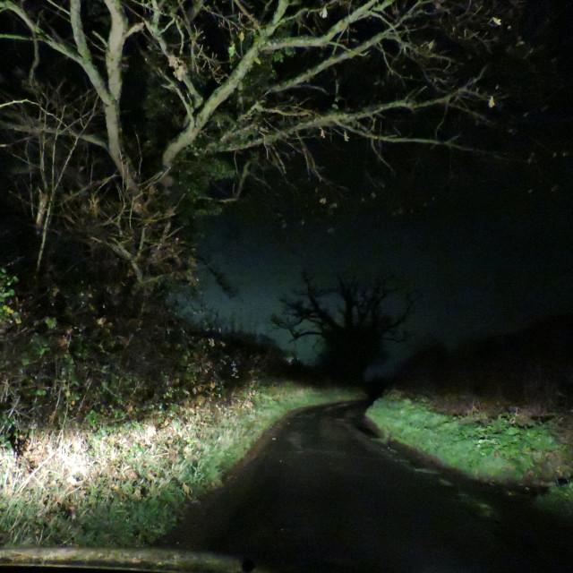 """Middleton at night Staffordshire December 2020"" stock image"