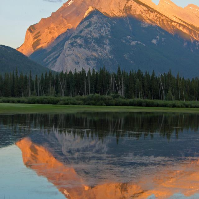 """Vermillion Lakes, Banff"" stock image"