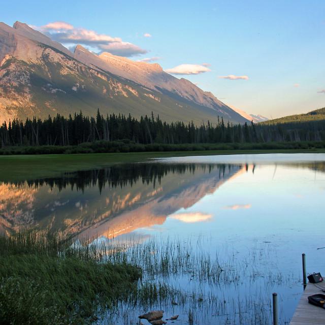 """One Man band, Vermilion Lakes"" stock image"