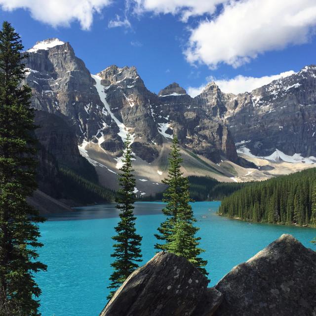 """Moraine lake"" stock image"
