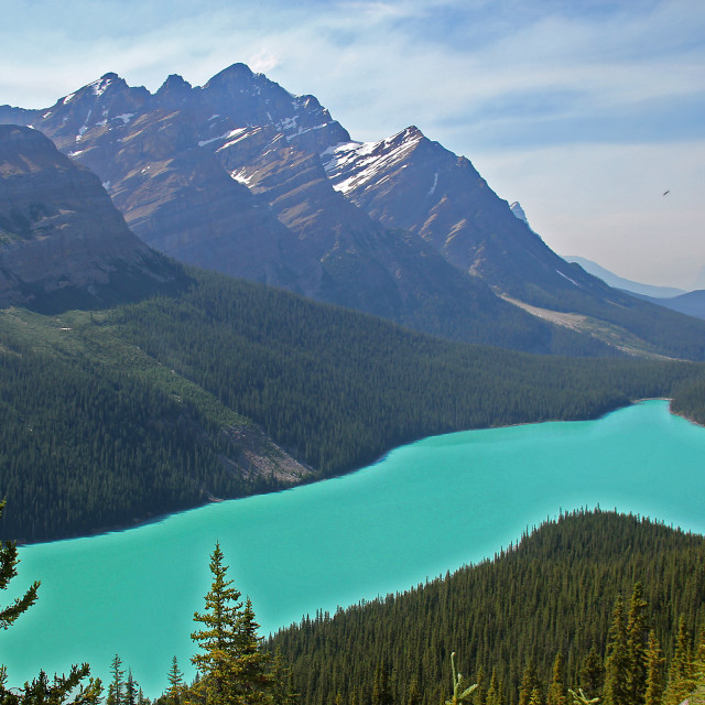 """""""Turquoise lake, Banff"""" stock image"""