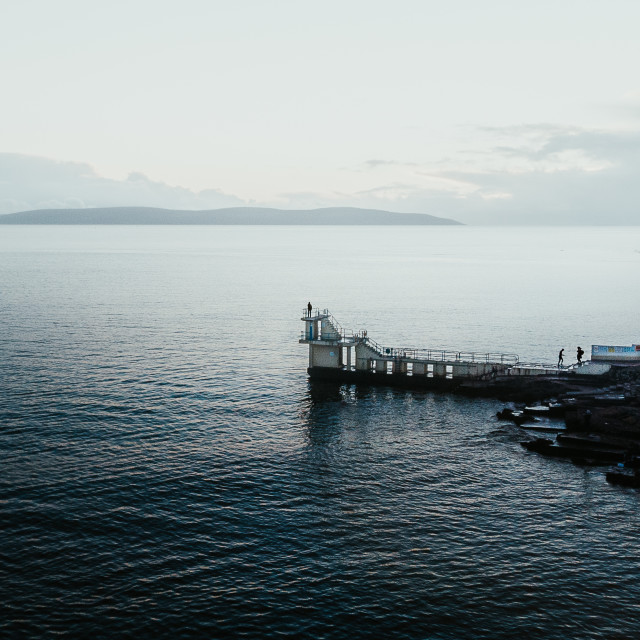 """""""Blackrock in Salthill, County Galway"""" stock image"""
