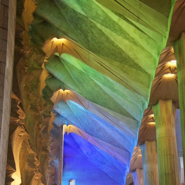 """Sagrada Familia interior"" stock image"