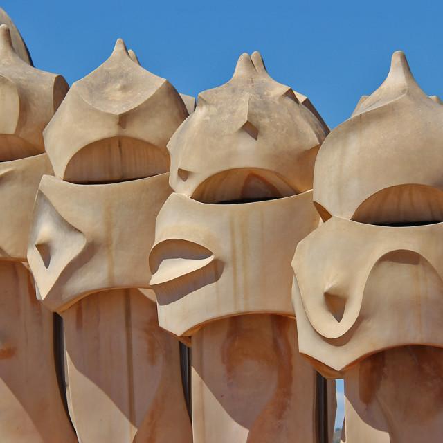"""La Pedrera, Barcelona"" stock image"
