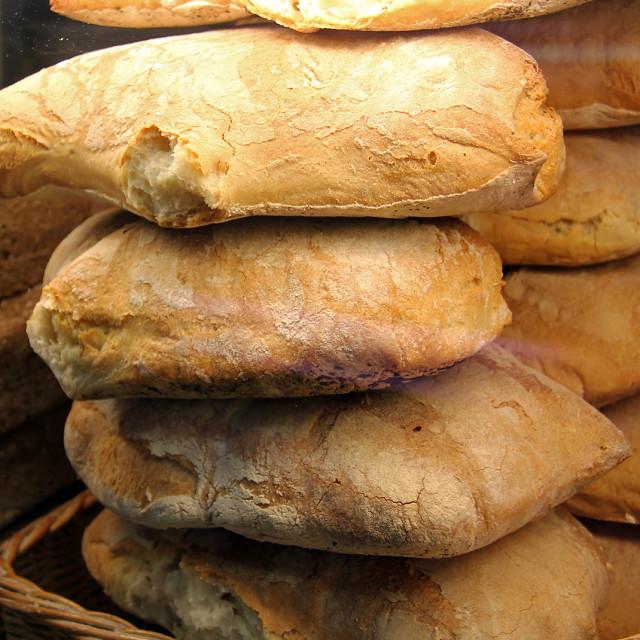 """""""Bread, Italian Bakery"""" stock image"""