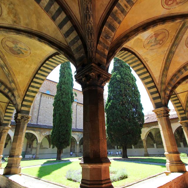 """""""Basilica of Santa Maria novella"""" stock image"""